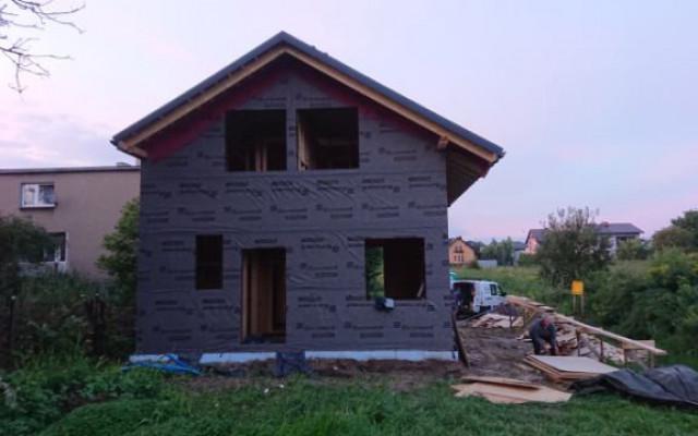 Piekary Śląskie 2021. Projekt indywidualny. Budowa domu szkieletowego w Piekarach Śląskich